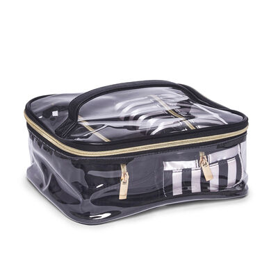 """Brouk & Co. """"Mia"""" Clear Cosmetic Bag with Two Makeup Bags, , default"""