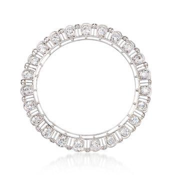 C. 1910 Vintage 1.85 ct. t.w. Diamond Open Circle Pin in Platinum , , default