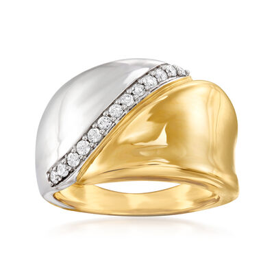 .20 ct. t.w. Diamond Sash Ring in 14kt Two-Tone Gold