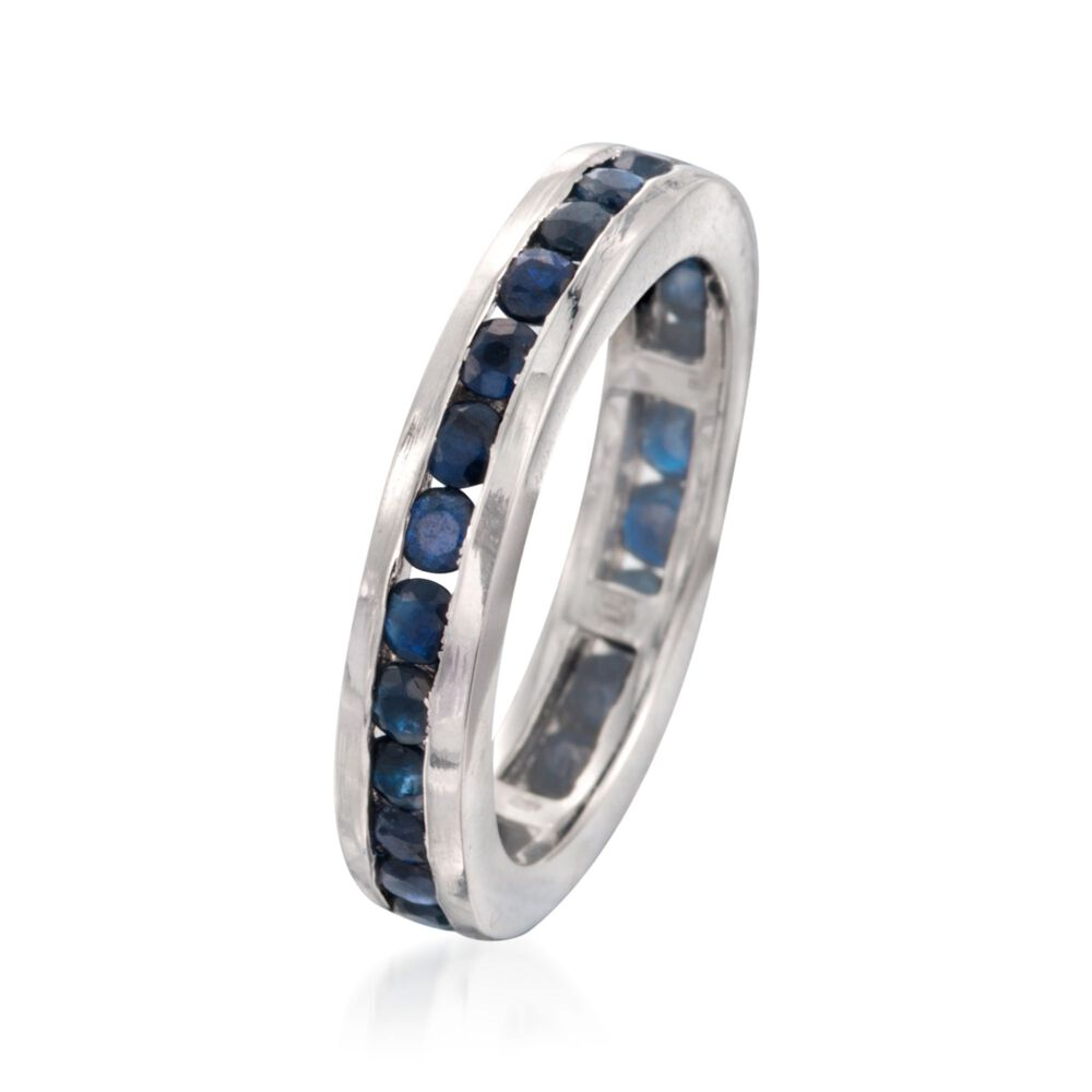 7a090a833 ... 2.30 ct. t.w. Channel-Set Sapphire Eternity Band in Sterling Silver, ...