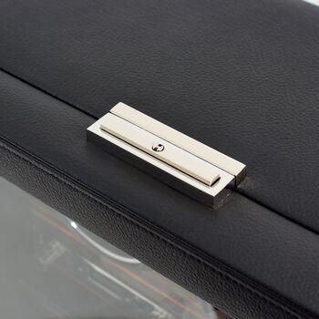 """Roadster""Black and Ebony Macassar Eight-Module Watch Winder by Wolf Designs, , default"