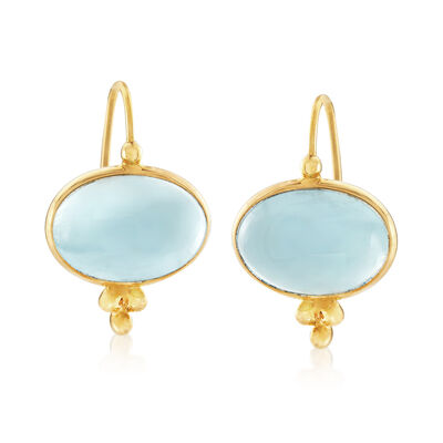 Mazza 11.00 ct. t.w. Aquamarine Drop Earrings in 14kt Yellow Gold, , default
