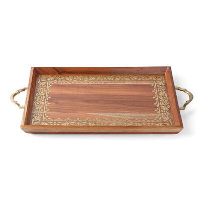 "Lenox ""Global Tapestry"" Wooden Rectangular Tray, , default"