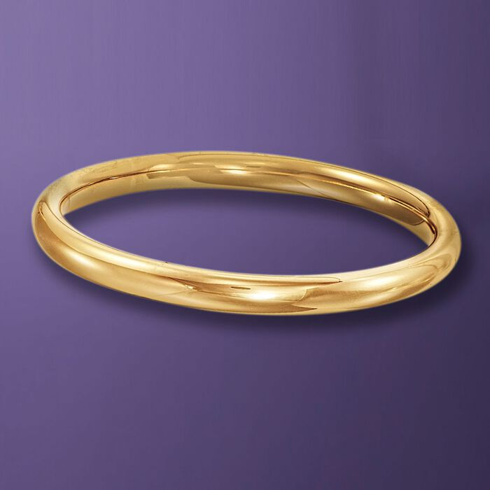 Italian Andiamo 14kt Yellow Gold Bangle Bracelet