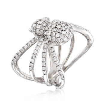 1.00 ct. t.w. Diamond Spider Ring in Sterling Silver, , default