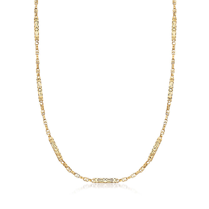 C. 1930 Vintage Chain Necklace in 10kt Yellow Gold. 50""