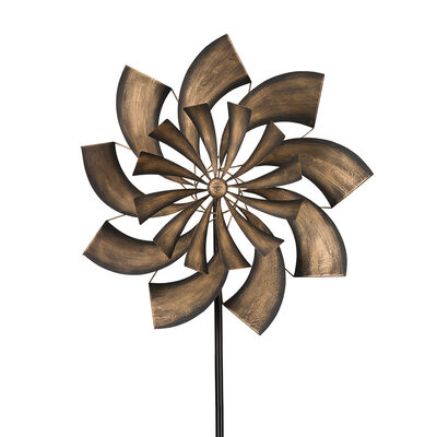 "Regal ""Goldrush"" Outdoor Decorative Garden Wind Spinner, , default"