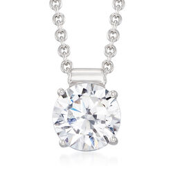 "1.25 Carat CZ Solitaire Necklace in Sterling Silver. 16"", , default"