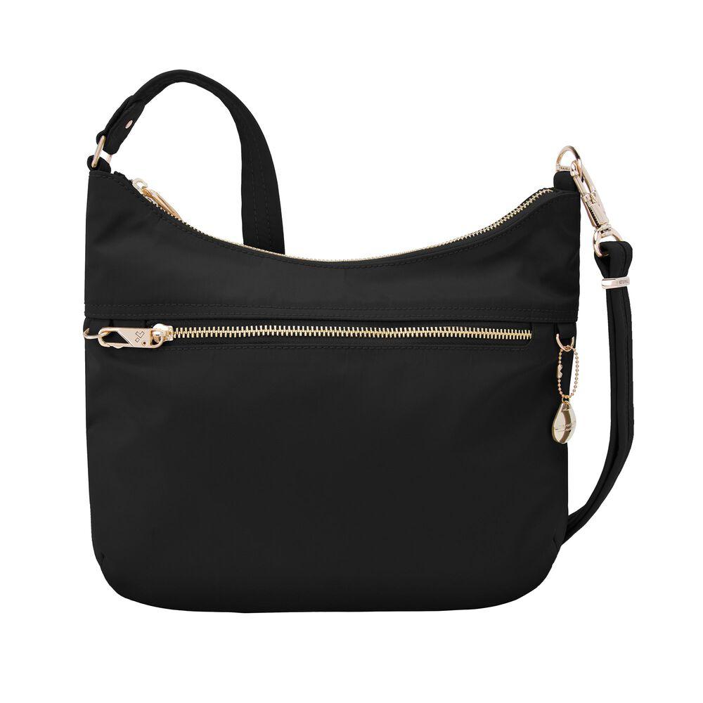 Travelon Anti Theft Tailored Onyx Black Nylon Twill Hobo Bag