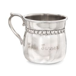 Reed & Barton Pewter Baby Hearts Baby Cup, , default