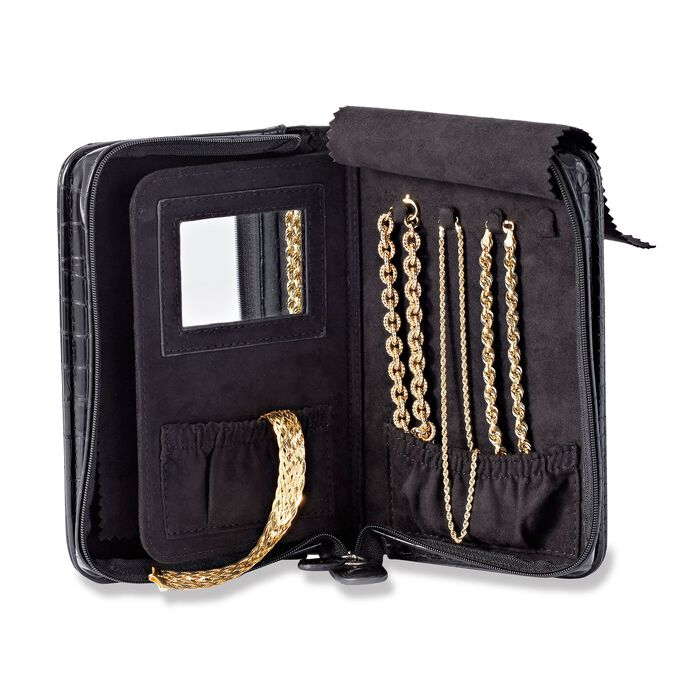 Black Perfect Travel Jewelry Case, , default