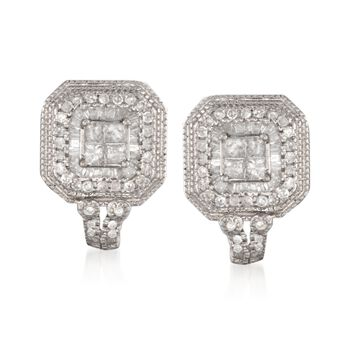 1.00 ct. t.w. Diamond Earrings in Sterling Silver, , default