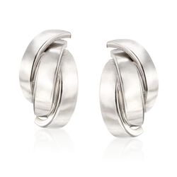 Italian Sterling Silver Layered Multi-Curve Earrings , , default