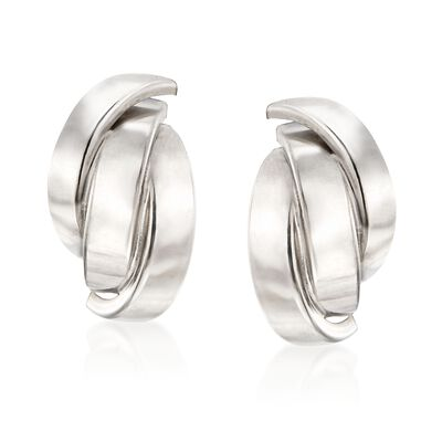 Italian Sterling Silver Layered Multi-Curve Earrings, , default