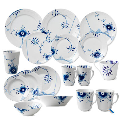 "Royal Copenhagen ""Blue Fluted Mega"" Porcelain Dinnerware"