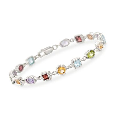 8.30 ct. t.w. Multi-Stone Bracelet in Sterling Silver, , default