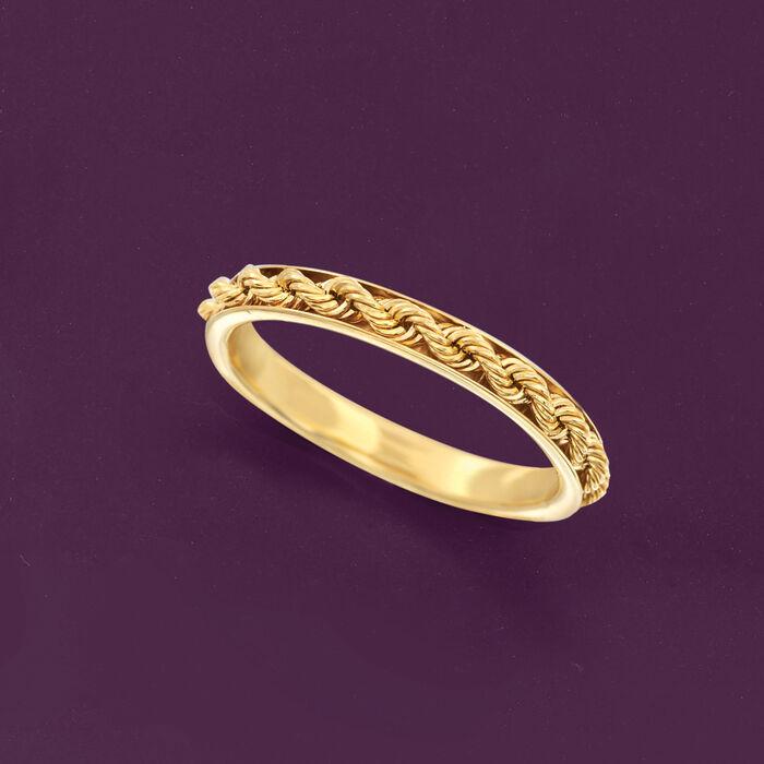 Italian 14kt Yellow Gold Rope-Design Ring