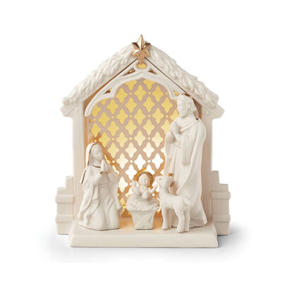 "Lenox ""Illuminations"" Lit Nativity Scene, , default"