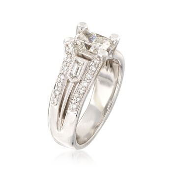 C. 2000 Vintage 1.73 ct. t.w. Certified Diamond Ring in 18kt White Gold. Size 6.5, , default