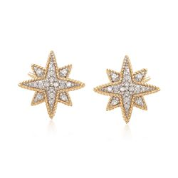 .25 ct. t.w. Diamond Star Earrings in 14kt Yellow Gold, , default