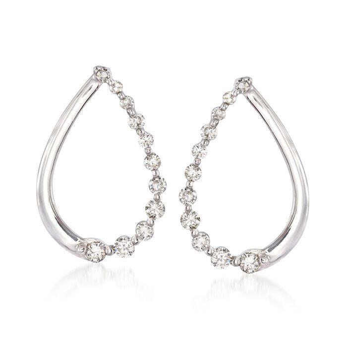 .29 ct. t.w. Diamond Teardrop Earrings in 14kt White Gold