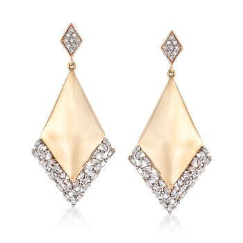 .49 ct. t.w. Diamond Geometric Earrings in 14kt Yellow Gold, , default
