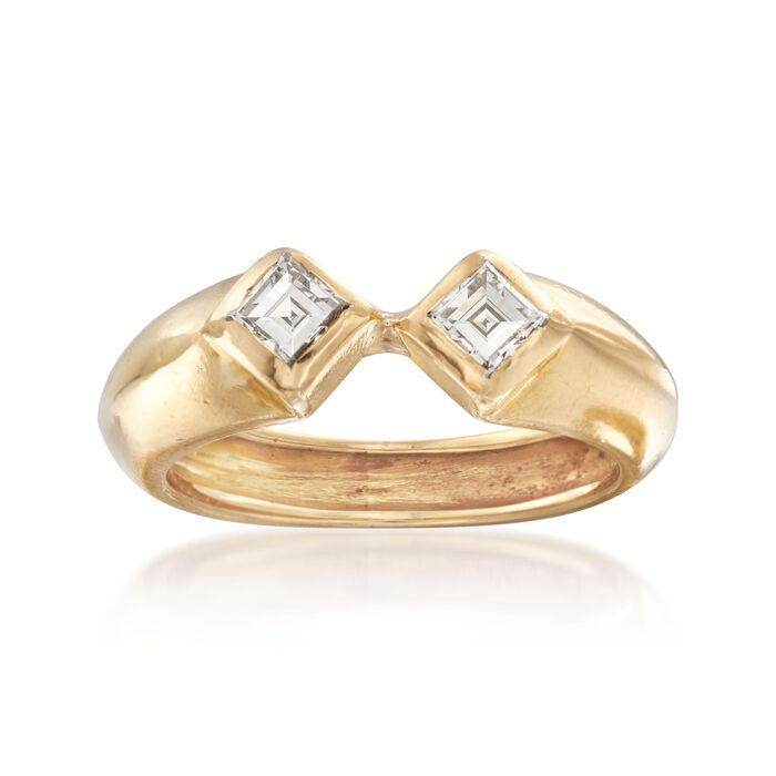 C. 1990 Vintage Tiffany Jewelry .40 ct. t.w. Square-Cut Diamond Ring in 18kt Yellow Gold. Size 4.75, , default