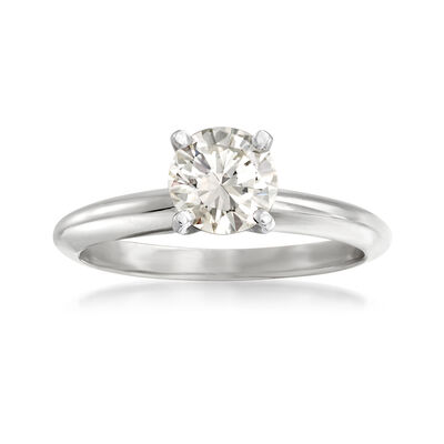 1.02 Carat Certified Diamond Solitaire Ring in 14kt White Gold, , default