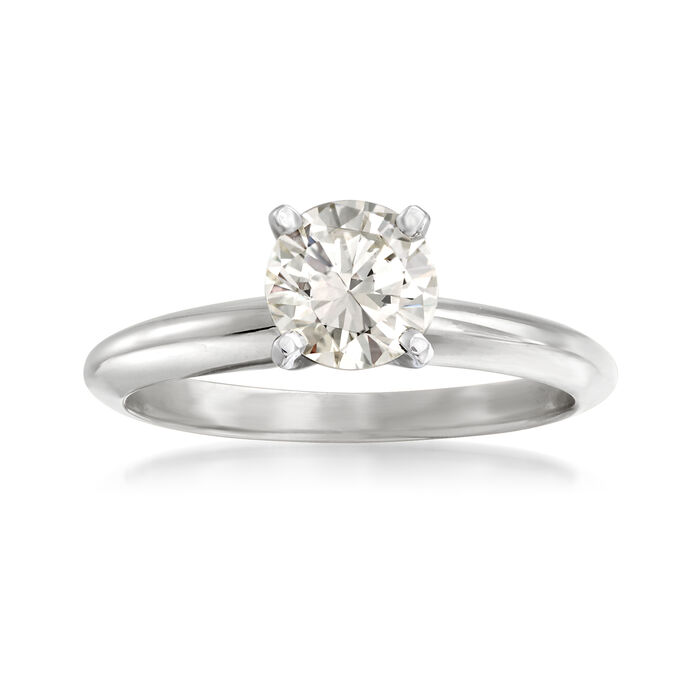 1.02 Carat Certified Diamond Solitaire Ring in 14kt White Gold