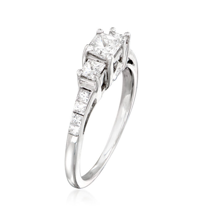 C. 1990 Vintage .90 ct. t.w. Diamond Ring in 14kt White Gold