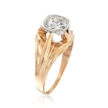 C. 1960 Vintage .60 Carat Diamond Ring in 14kt Yellow Gold. Size 6, , default