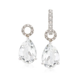 6.50 ct. t.w. White Topaz Pear-Shaped Earring Charms in Sterling Silver, , default
