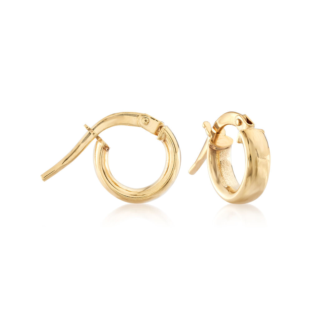 "199ff2fac Child's 14kt Yellow Gold Hoop Earrings. 3/8"", , default"