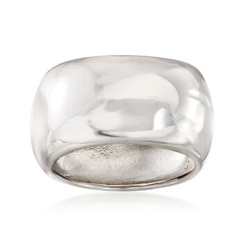 Italian Sterling Silver Square Ring, , default