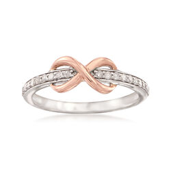 .25 ct. t.w. Diamond Infinity Ring in Sterling Silver and 14kt Rose Gold, , default