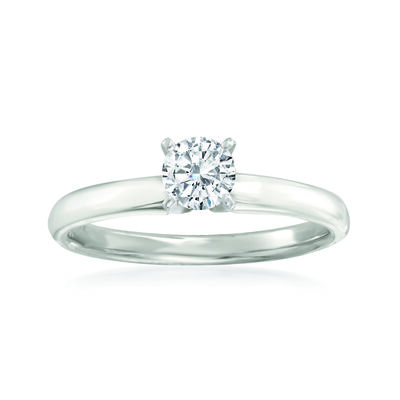 .50 Carat Diamond Solitaire Ring in 14kt White Gold