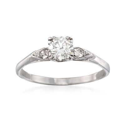 C. 1990 Vintage 1.01 ct. t.w. Diamond Ring in 14kt White Gold  , , default