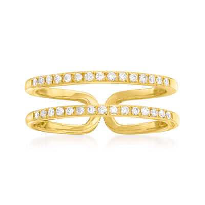 .20 ct. t.w. Diamond Two-Row Ring in 14kt Yellow Gold