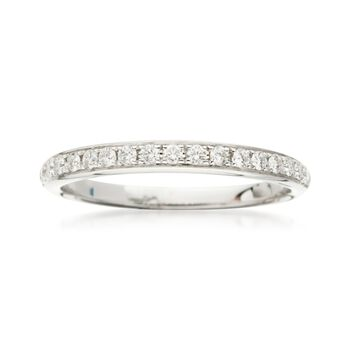 .25 ct. t.w. Diamond Wedding Ring in 18kt White Gold, , default
