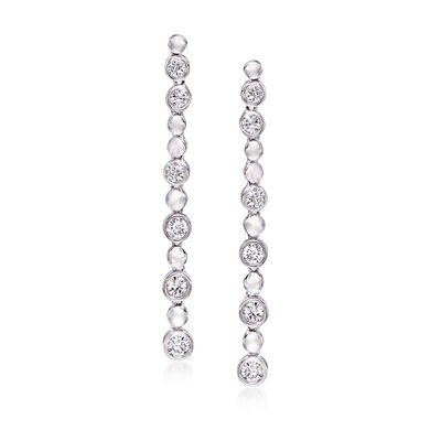 .75 ct. t.w. Diamond Linear Drop Earrings in 14kt White Gold