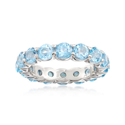 4.50 ct. t.w. Blue Topaz Eternity Ring in Sterling Silver