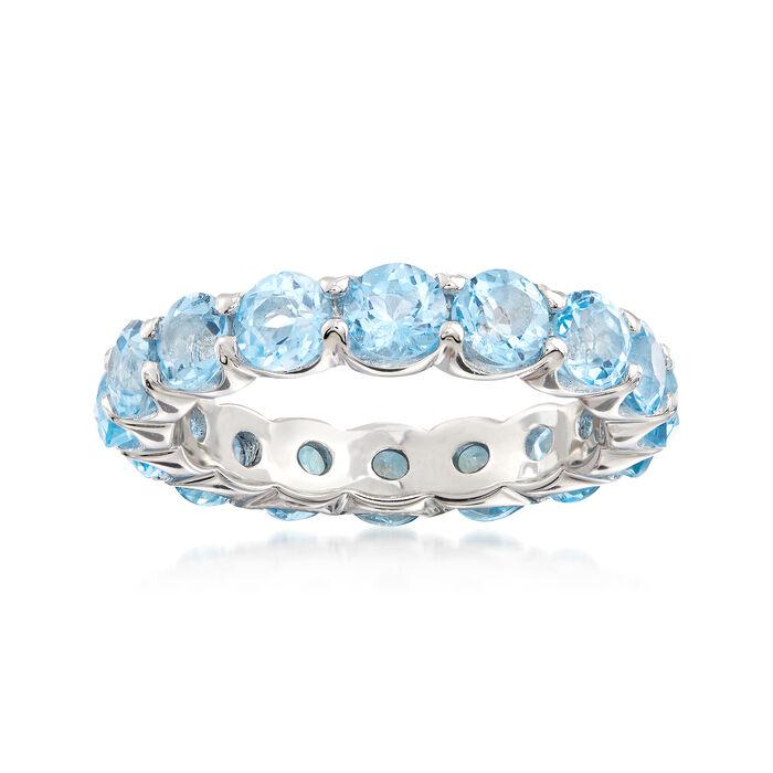 4.50 ct. t.w. Blue Topaz Eternity Ring in Sterling Silver, , default