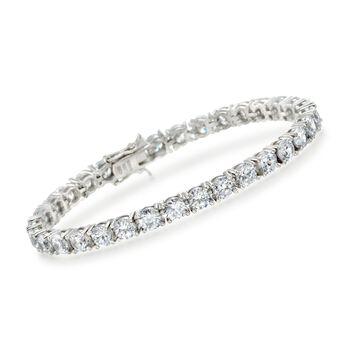 15.00 ct. t.w. CZ Tennis Bracelet in Sterling Silver, , default