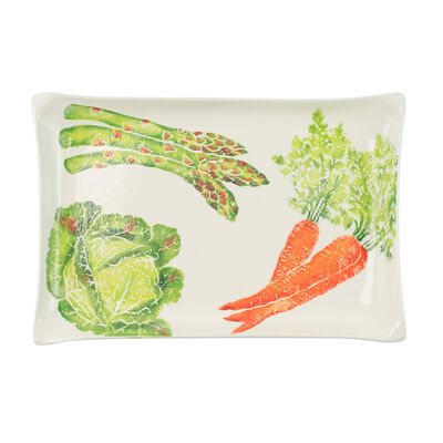 """Vietri """"Spring Vegetables"""" Rectangular Platter from Italy"""