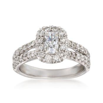 Henri Daussi 1.37 ct. t.w. Diamond Engagement Ring in 18kt White Gold, , default