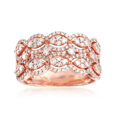 1.00 ct. t.w. Diamond Multi-Row Ring in 14kt Rose Gold, , default