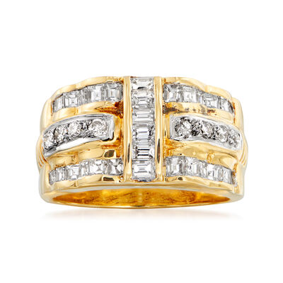 C. 2000 Vintage 1.19 ct. t.w. Diamond Band in 18kt Yellow Gold, , default