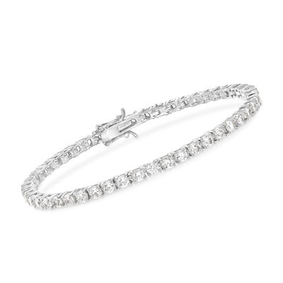 5.00 ct. t.w. CZ Tennis Bracelet in Sterling Silver