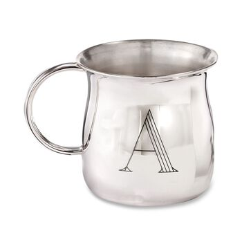 Sterling Silver Pot-Belly Baby Cup, , default