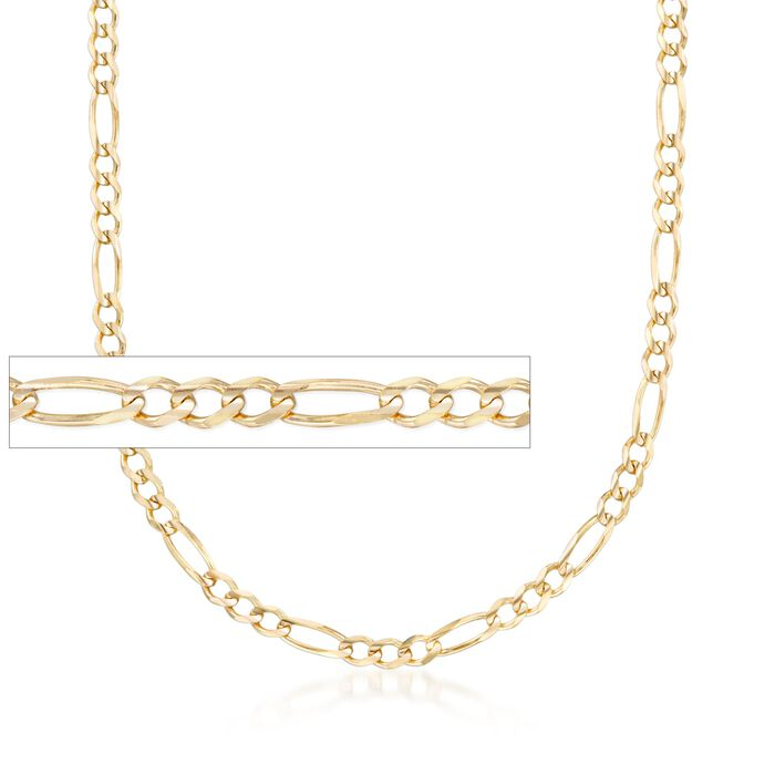 """Men's 3.9mm 14kt Yellow Gold Figaro Chain Necklace. 20"""", , default"""